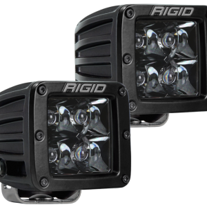Rigid 202213BLK Industries D-Series Midnight Edition – Spot – Set of 2